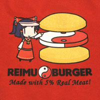 ddiction Reimu Burger T-shirt(S)