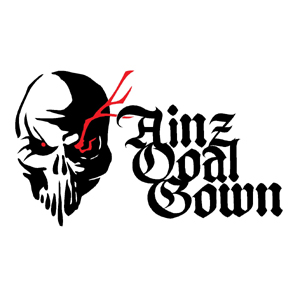 Maximum Racing Ainz Ooal Gown イラスト ロゴカッティングステッカー (黒・赤)