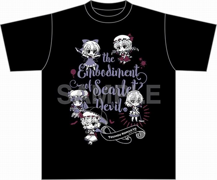 Gift 東方Project Tシャツ 紅魔郷ver.(Lサイズ(身丈74cm 身幅55cm 肩幅50cm)